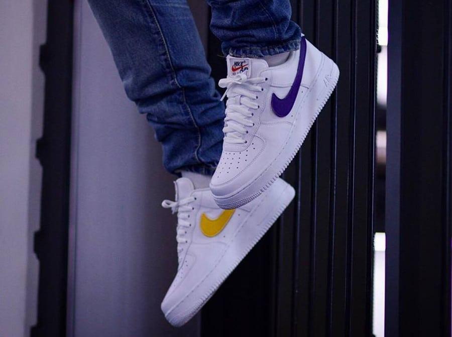 Nike Air Force 1 Triple White Velcro Swoosh (AH8462-102) (3)