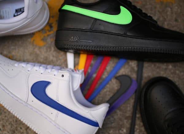 Nike Air Force 1 White & Black 'Velcro Swoosh Pack'