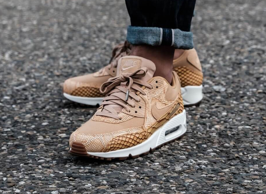 Nike Air Max 90 Premium 'Reptile' Elemental Gold