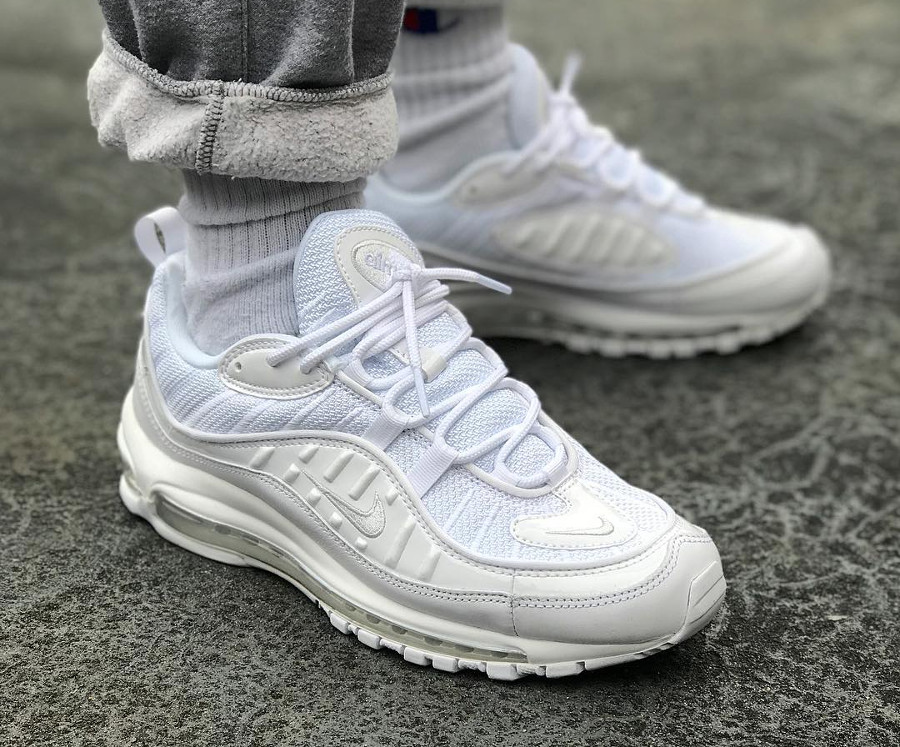 Nike Air Max 98 Triple White - @the_monsta