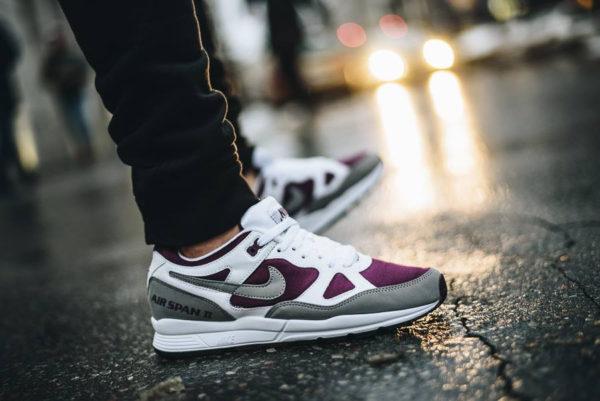 Nike Air Span II Bordeaux Mesh - chaussure rétro homme
