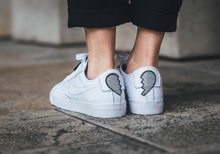 Nike Blazer Low blanche Broken Heart (logo cœur brisé) - chaussure basse retro pour femme