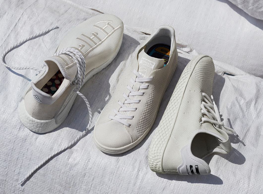 Le pack Pharrell Williams x Adidas Originals Holi 'Cream White' (fête des couleurs)