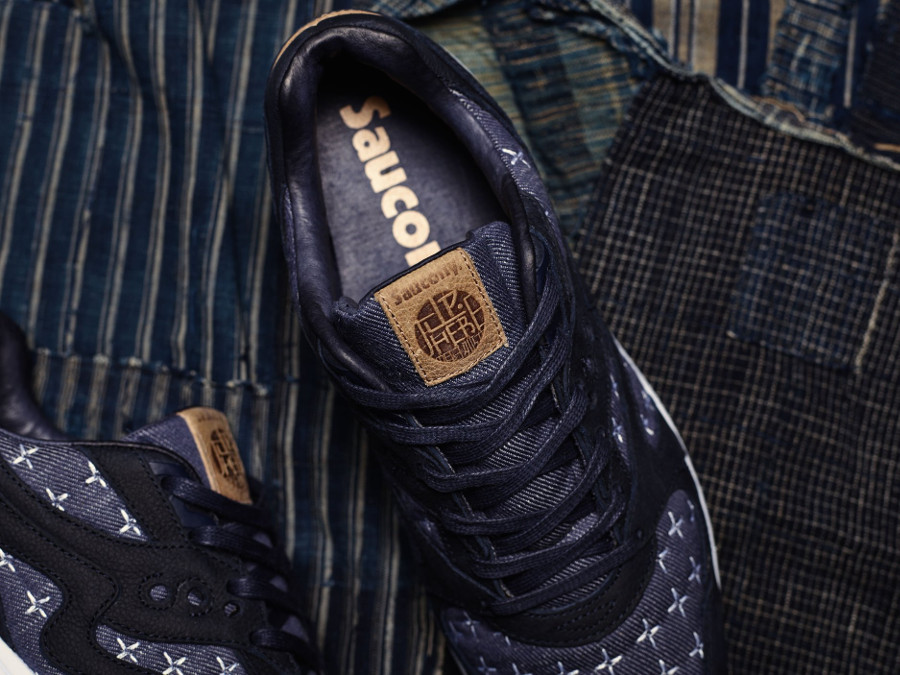 Up There x Saucony Grid 8000 Sashiko style denim (1)