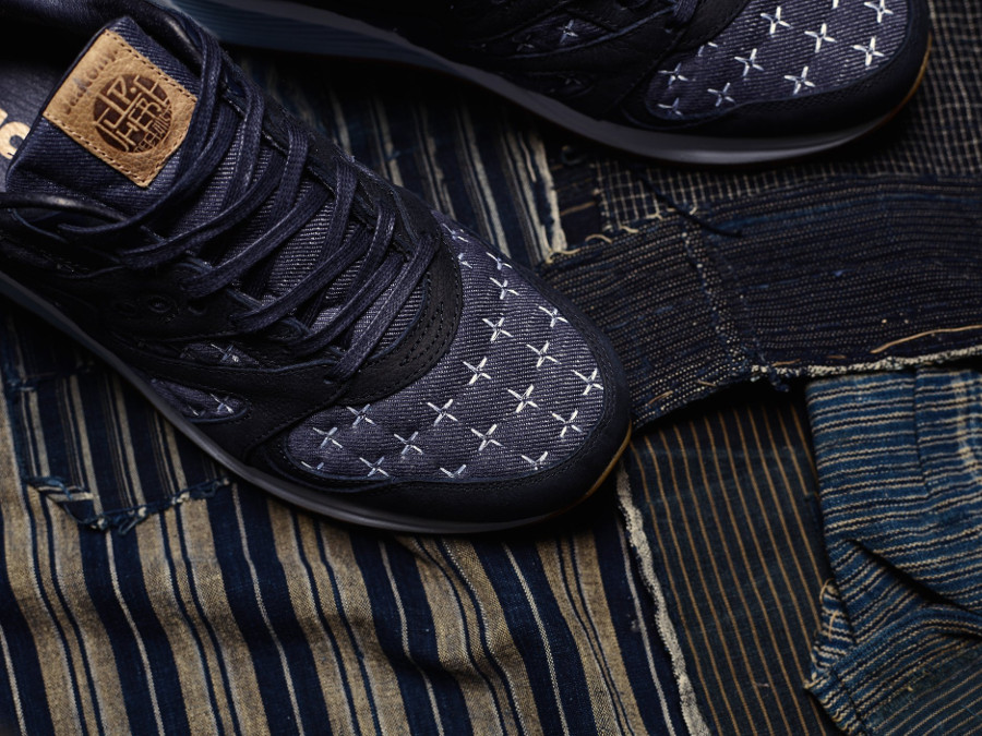 Up There x Saucony Grid 8000 Sashiko style denim (2)