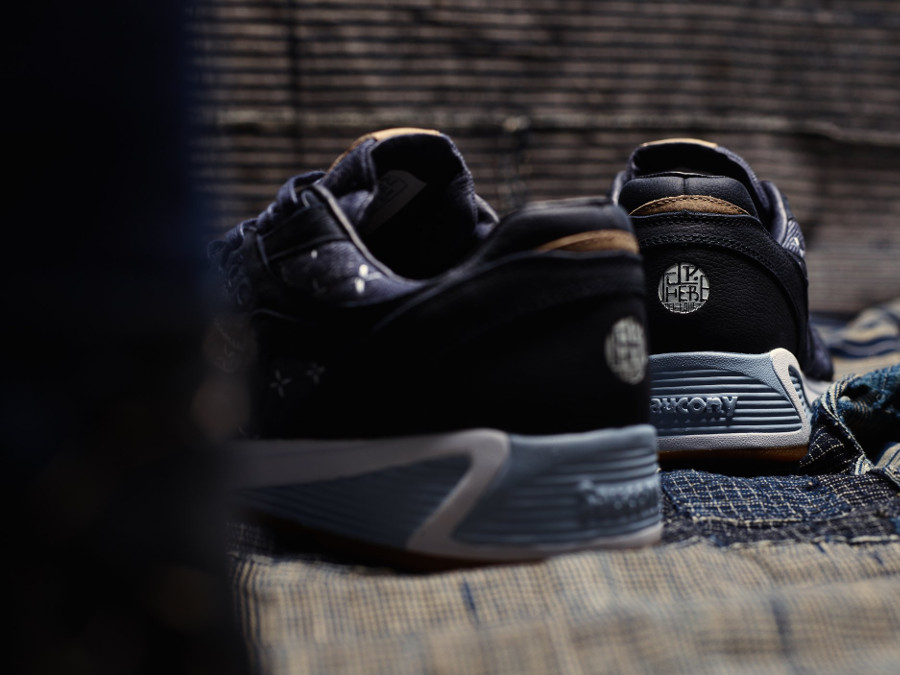 Up There x Saucony Grid 8000 Sashiko style denim (3)