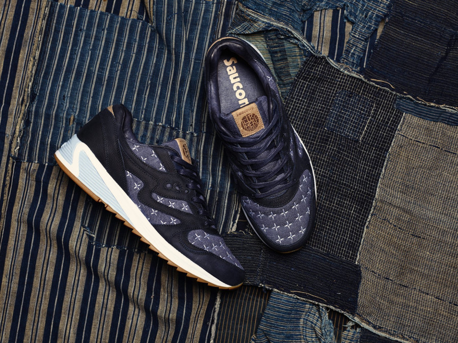 Up There x Saucony Grid 8000 Sashiko style denim (4)