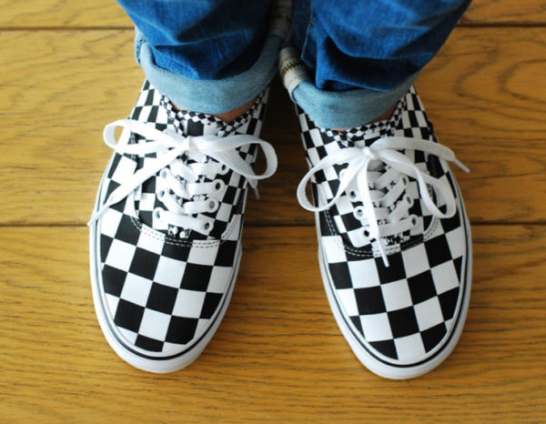 Vans Authentic 'Mix Checkerboard' Black True White