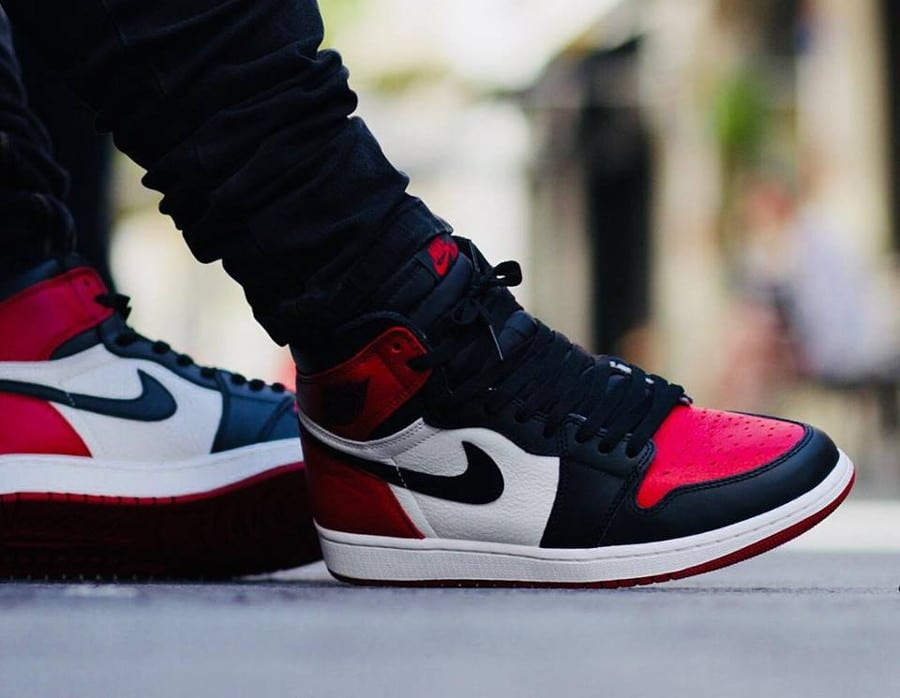 AJ1 Bred x Banned : Air Jordan 1 High Retro OG 'Bred Toe'
