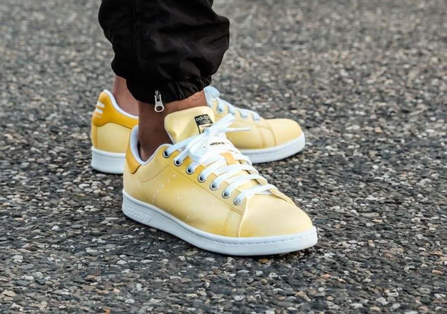 Pharrell Williams x Adidas Stan Smith HU Holi Yellow (dégradé jaune)