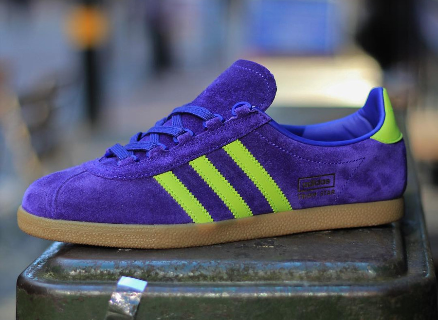 Size? x Adidas Trimm Star Purple Yellow 'Athens'