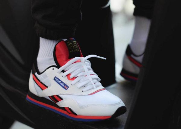 3282bb5cd866c P.E Nation x Reebok Classic Nylon blanche - chaussure rétro pour femme