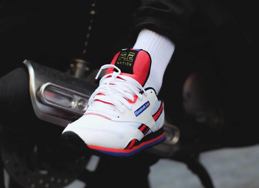 chaussure-pe-nation-reebok-classic-nylon-blanche-white-black-dayglow-red (3)
