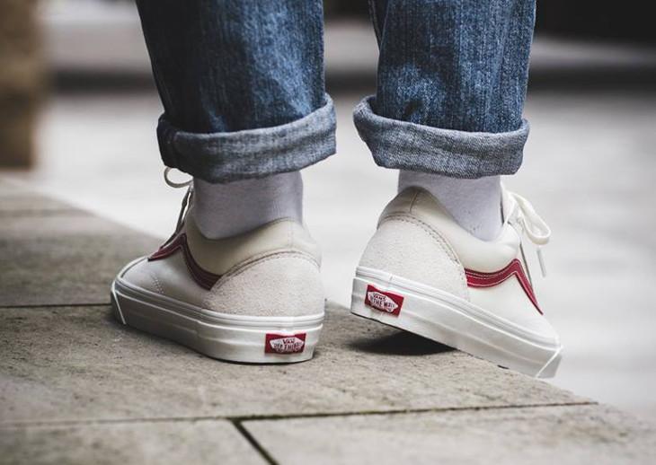 Avis] La Vans Old Skool Vintage White Rococco Red : que vaut