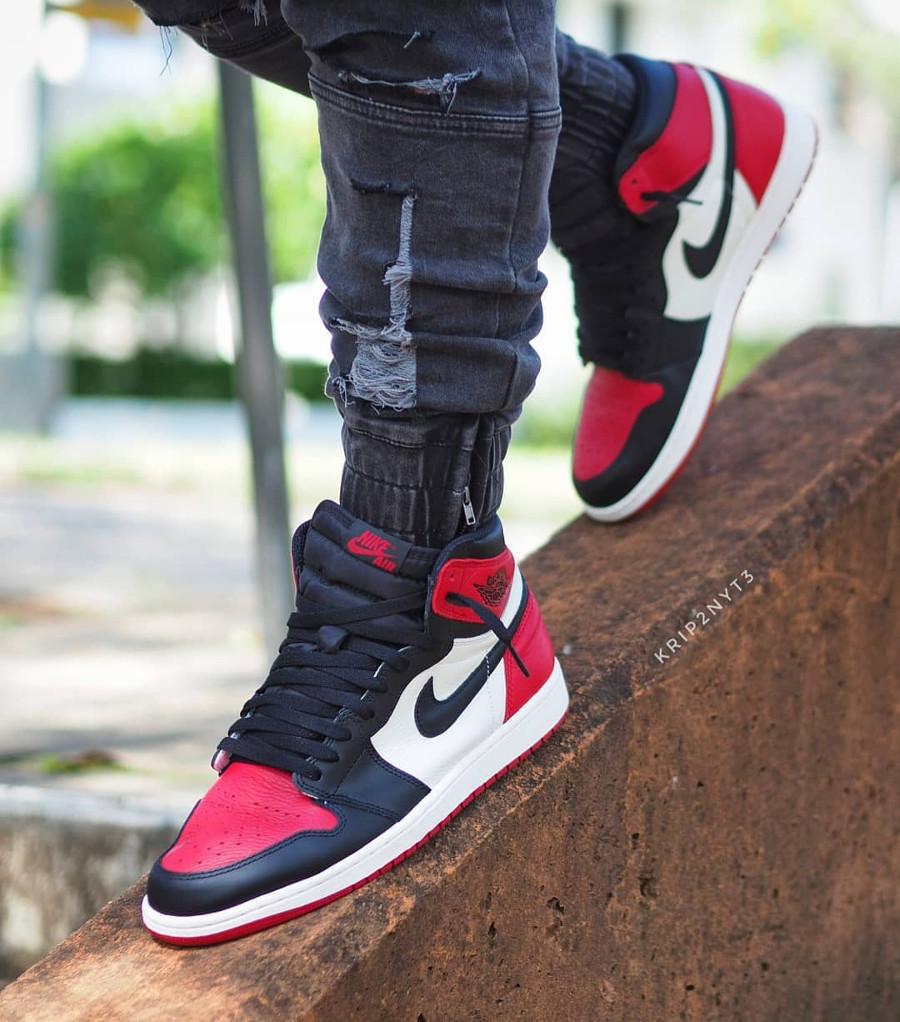 Air Jordan 1 High Retro Bred Toe - @krip2nyt3