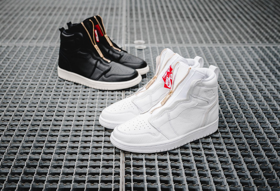 Air Jordan 1 Wmns High Zip 'White & Black'