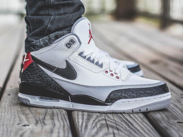 Chaussure Air Jordan 3 III NRG 'Tinker Hatfield' Fire Red on feet