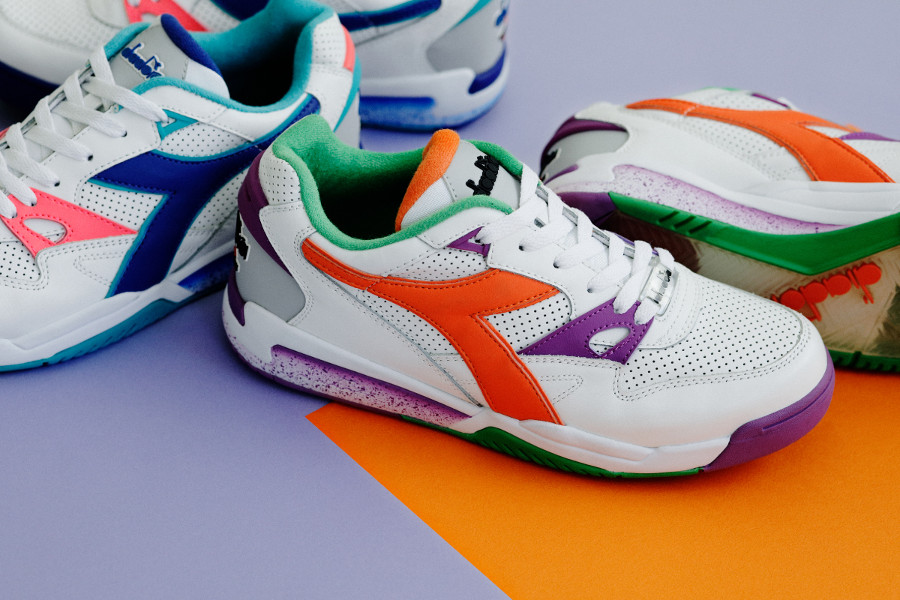 Diadora Rebound Ace 'White & Vermillion Orange'
