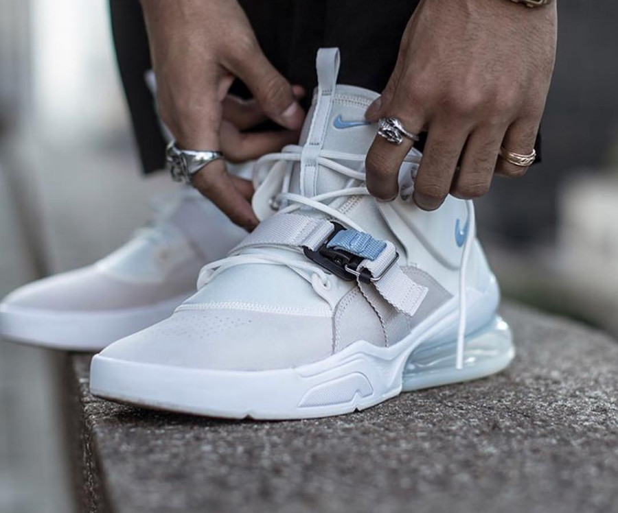 Nike Air Force 270 Wolf Grey on feet - @frankhavemercy