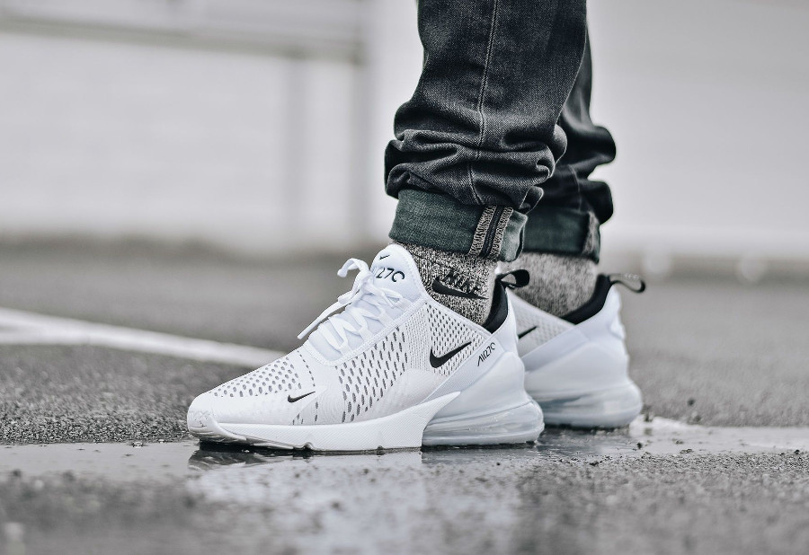 Nike Air Max 270 blanche et noire (2)