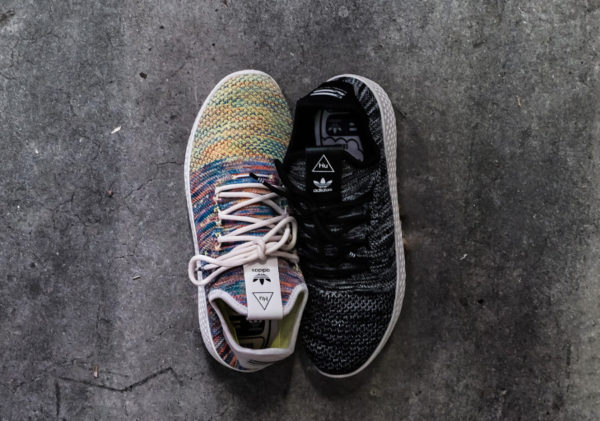 Pharrell Williams x Adidas Tennis Hu Primeknit Oreo et Multicolor