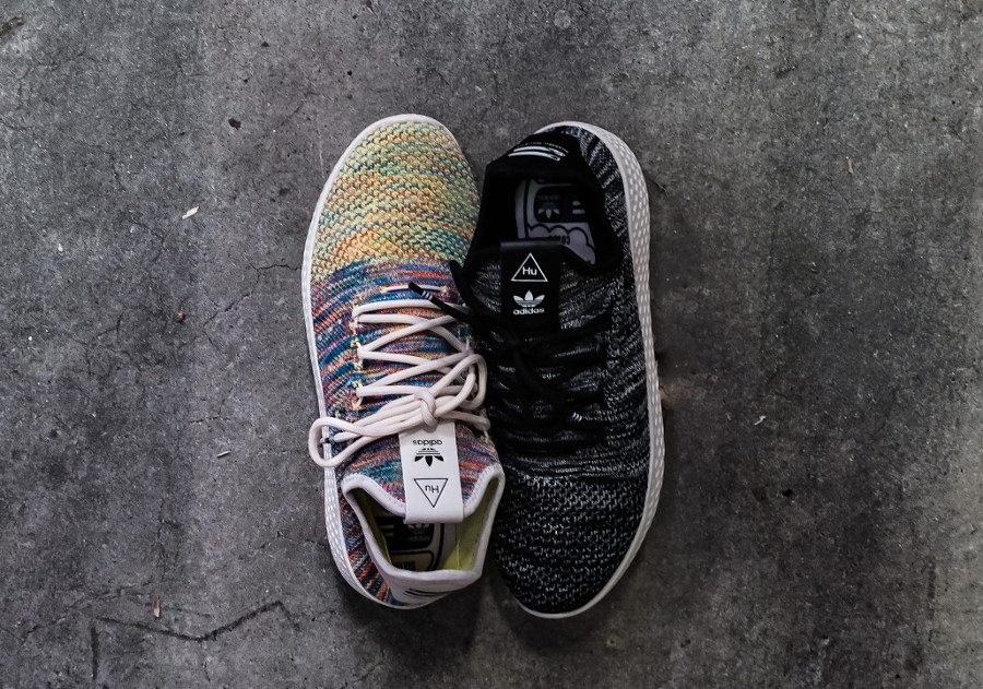 Pharrell Williams x Adidas Tennis Hu Primeknit 'Oreo & Multicolor'
