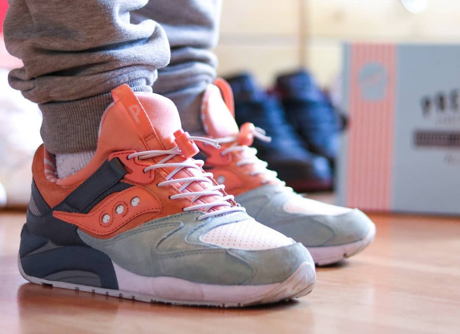 Premier x Saucony Grid 9000 Sweet Streets on feet - @thsbde