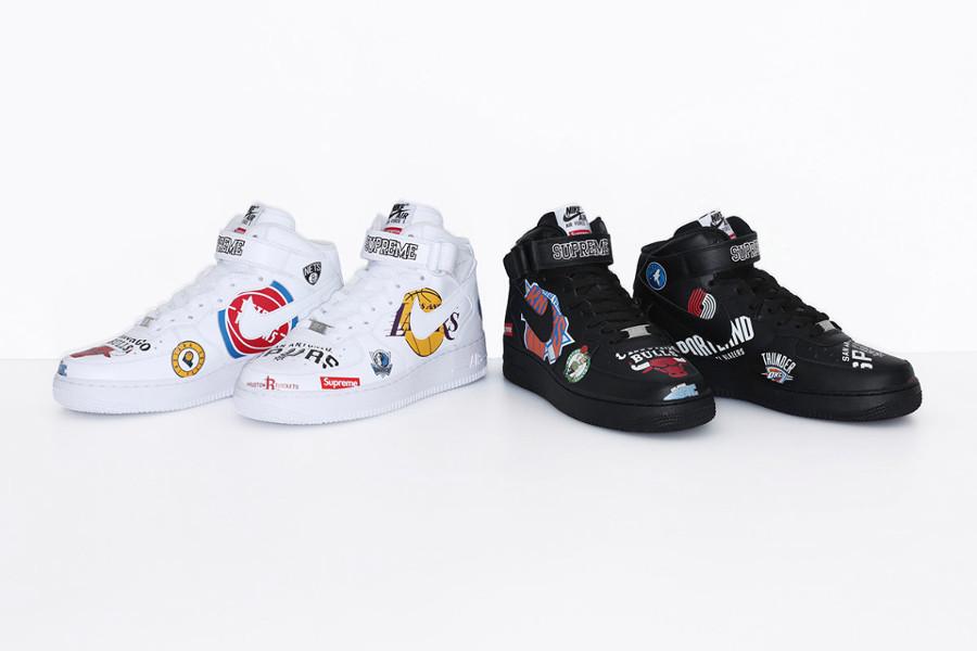 Supreme x Nike Air Force 1 Mid NBA Team Logos (1)