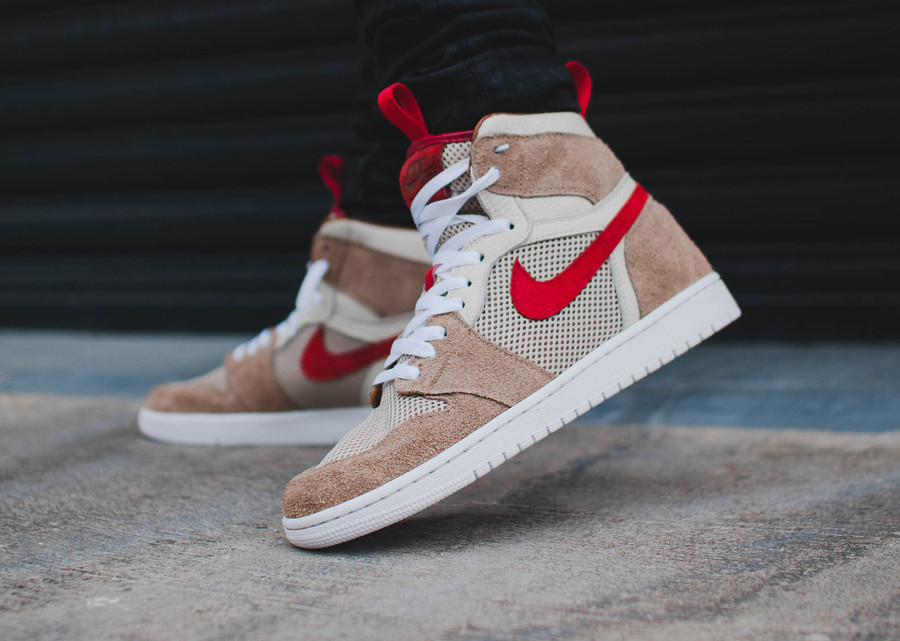 Tom Sachs x Air Jordan 1 High Retro 'Nike Mars Yard 2.0' on feet (1)