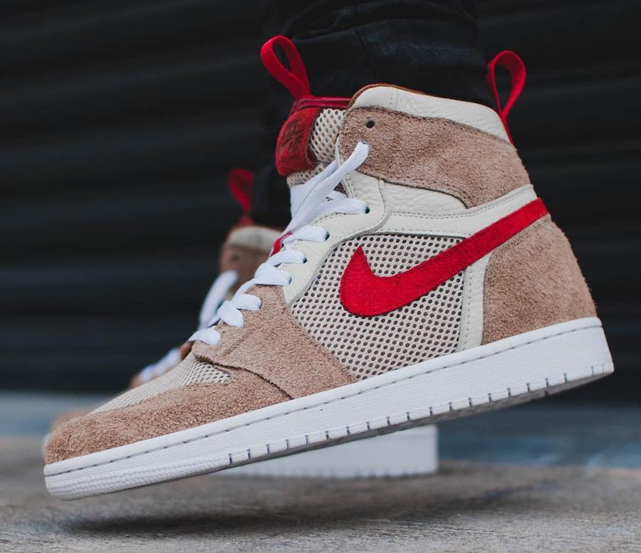 Tom Sachs x Air Jordan 1 High Retro 'Nike Mars Yard 2.0' on feet (2)