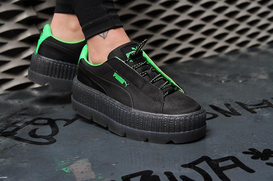 Chaussure femme Fenty Rihanna Puma Suede Cleated Creeper Surf Black Green Gecko' ( 367681_03)