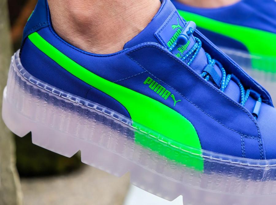 puma fenty creeper bleu et vert
