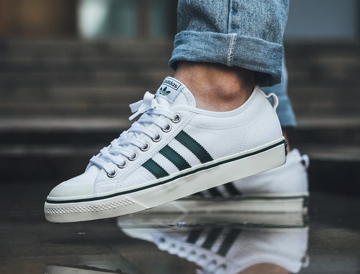 Avis] Adidas Nizza Low White Collegiate Green & Burgundy