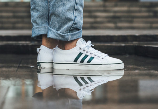 Chaussure Adidas Nizza Low White Collegiate Green ( CQ2327)