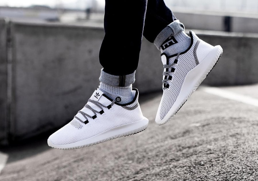 Adidas Tubular Shadow CoreKnit 'White & Black'