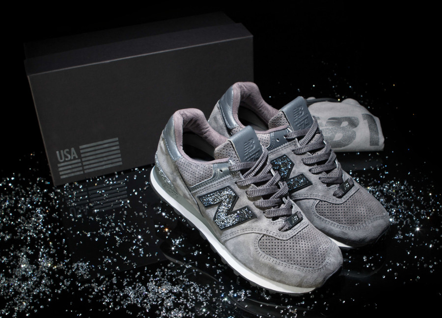 basket-new-balance-574-nb1-daim-cristaux- Swarovski (3)