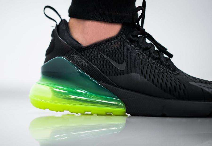 date de sortie ac2ac bb587 Avis] Nike Air Max 270 noire et vert fluo - guide des achats