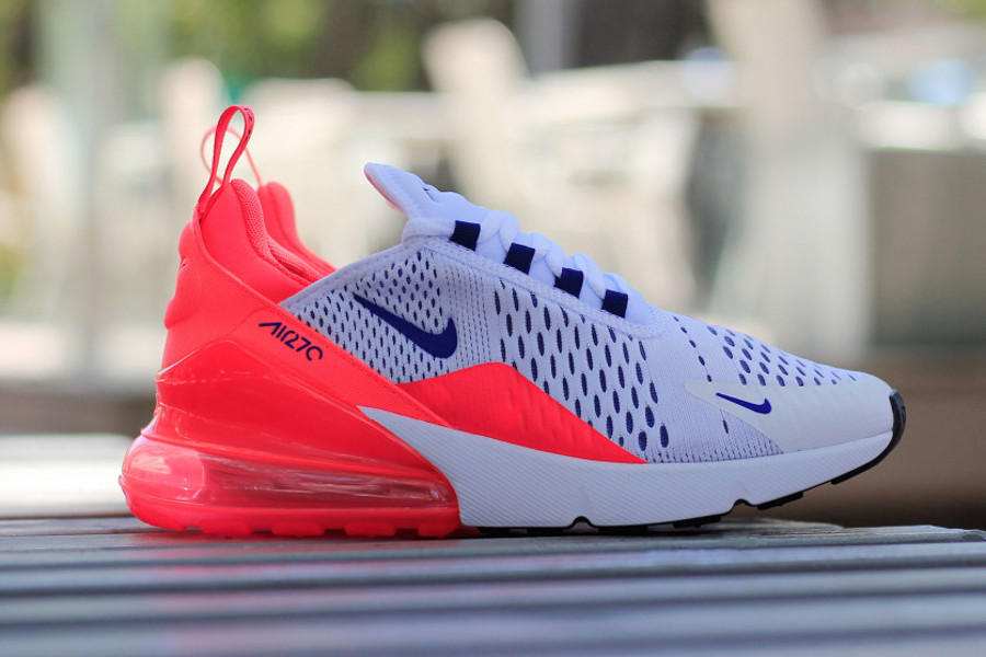air max 270 blanche bulle rouge
