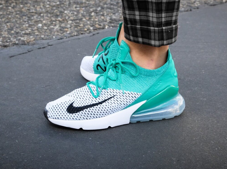 avis nike air max 270 flyknit verte clear emerald femme guide des achats. Black Bedroom Furniture Sets. Home Design Ideas
