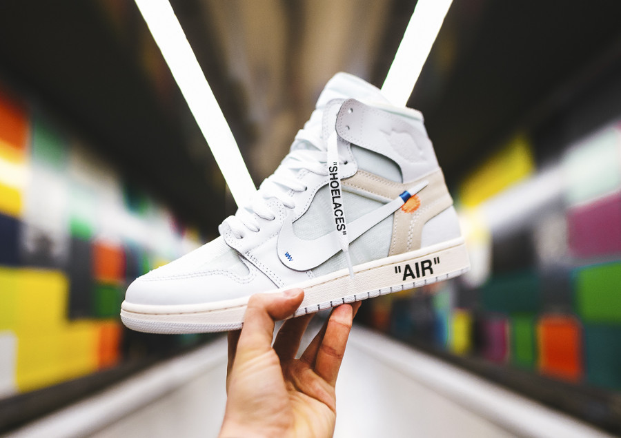 La Off White x Air Jordan 1 'Triple White' 10X par Virgil Abloh