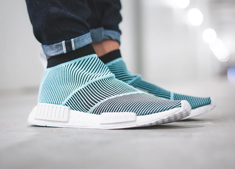 Chaussure Parley x Adidas NMD City Sock CS1 AC8597 on feet
