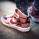 Chaussure NikeLab Air Force 1 High RT Icarus Sun Blush on feet