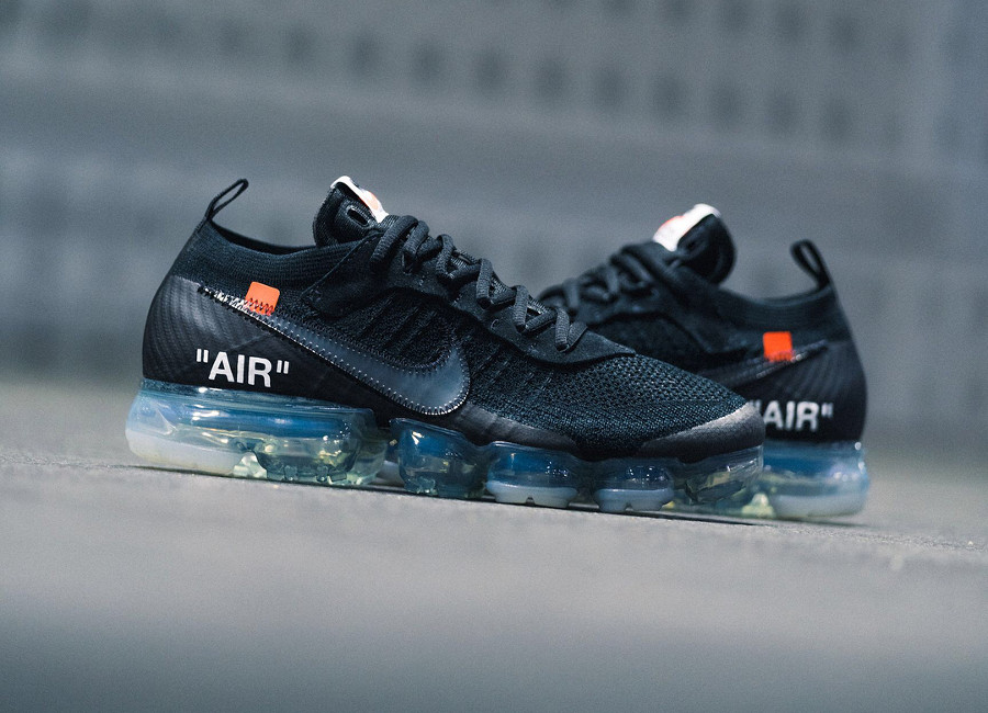 Off White x Nike Air Vapormax Flyknit Black 'The Ten' 2018