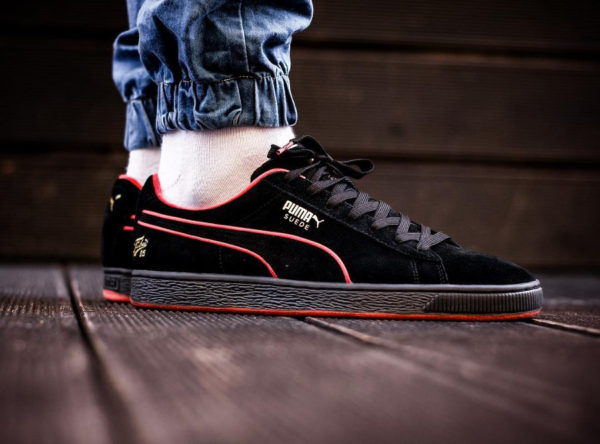 FUBU x Puma Suede 50 'Black High Risk Red'