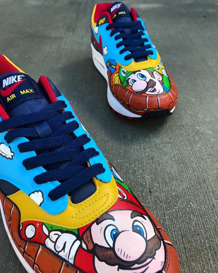chaussure-nike-air-max-1-customisée-super-mario-bros (2)