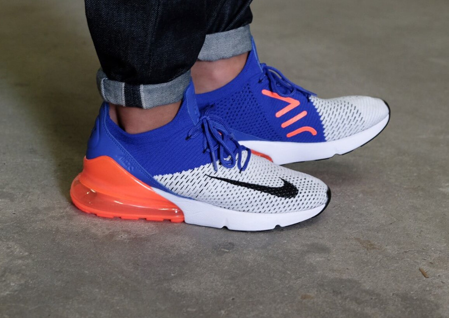 save off a38ed e0f31 Avis] Nike Air Max 270 Flyknit Racer Blue Total Crimson ...
