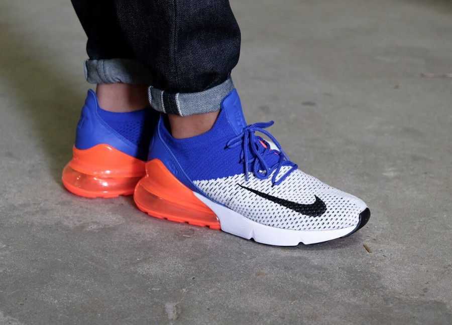 nike air max 270 flyknit homme blanche