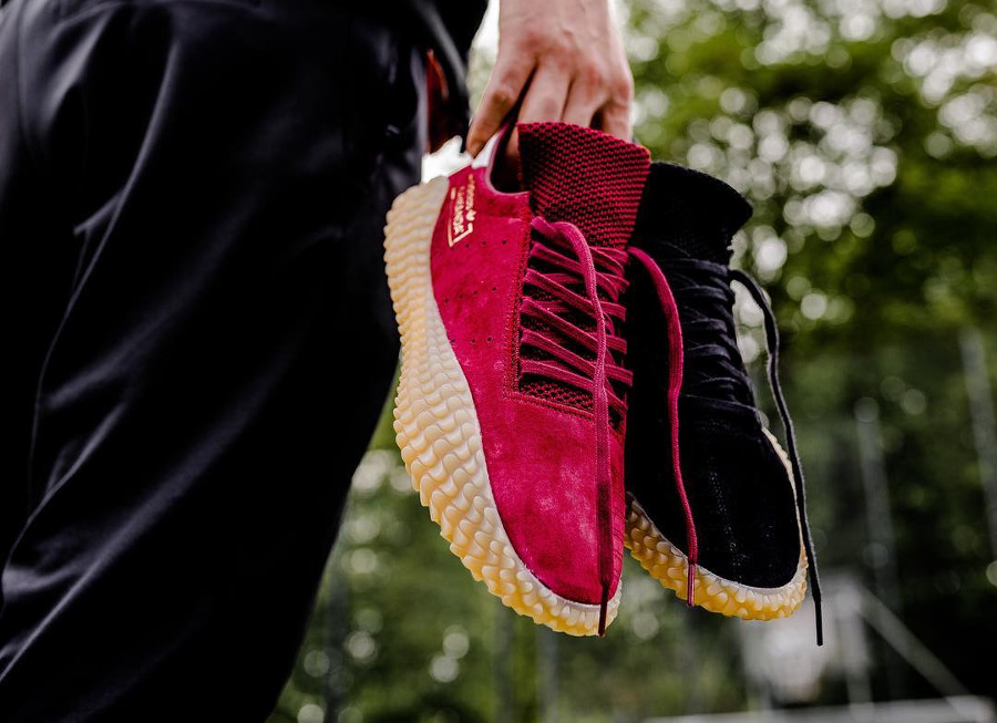 Adidas Kamanda Suede 'Black & Collegiate Burgundy'