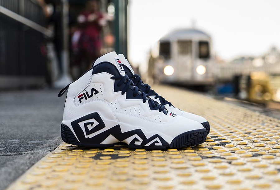 Basket Fila MB White Navy (1)
