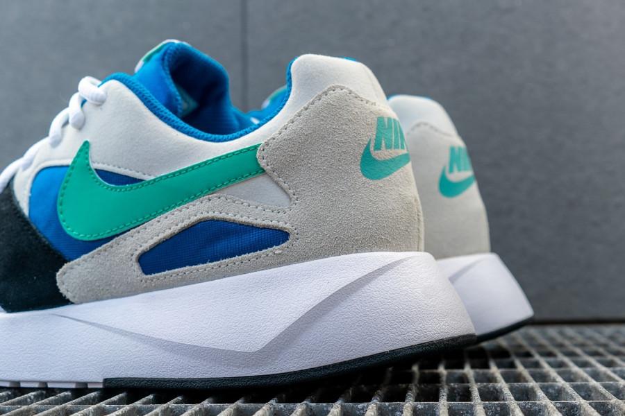 Basket Nike Pantheos blanche suède gris Swoosh bleu turquoise (2)